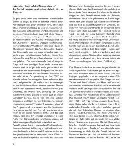 Bernd Leistner Katalog