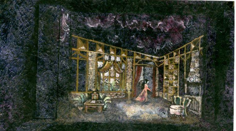 La Traviata, 1969<br>Entwurf, Bühnen Zwickau