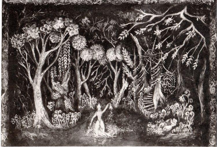 Hänsel und Gretel, 1966<br>Entwurf Wald, Staatstheater Schwerin