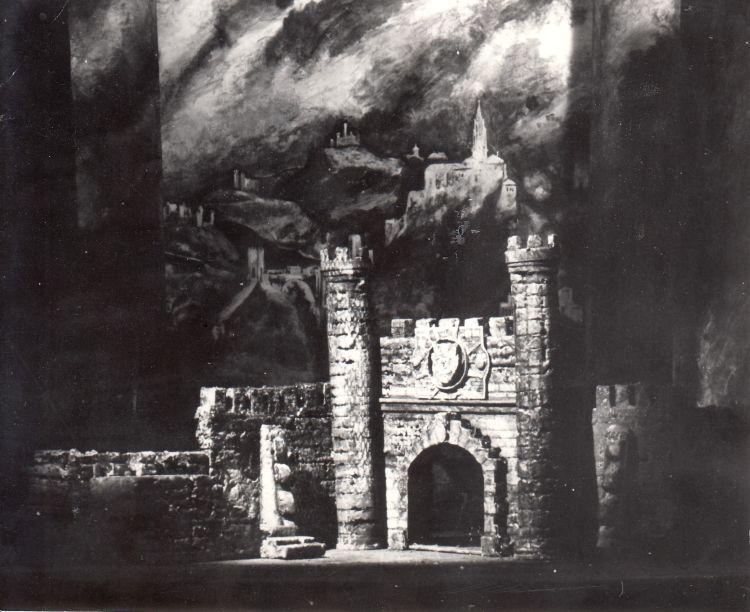 Der Troubadour, 1968<br>Modell, Staatstheater Schwerin
