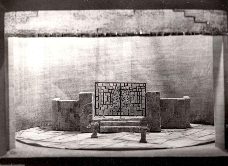 RADAMISTO, 1978<br> Modell, Landestheater Halle